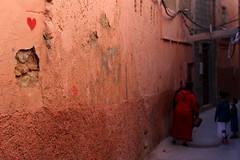 The heart of Marrakech (Aurélie Lbé) Tags: heart marrakech souk red rouge street venelle maroc marocco medina ruelle wall