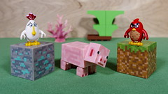 The Angry Birds are going to team up against this ugly thing for sure (Busted.Knuckles) Tags: home toys lego minecraft minifigures angrybird pig pentaxk3 camerautility5