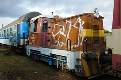 702-091 at Ceska Trebova (Karel1999 Over a Million views ,many thanks) Tags: vlak zug locomotives trains diesels ceska trebova