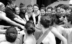 PreShow Hands Together (Sakuramai Toronto) Tags: travel music dance montreal japan japanese ilovejapan yosakoi performance sakuramai           indoor indoors blackandwhite group people girl dancer smile costume