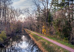 Autumn canal and towpath - Delaware River, New Hope, Pennsylvania (superpugger) Tags: towpath towpaths canal autumn delawareriver newhopepa newhopepennsylvania pennyslvania newhope fall fujixt1