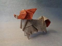 Papillon (mrmicawer) Tags: papiroflexia origami papel perro dog papillon