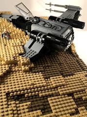 X-Wing Crash 2 (goatman461) Tags: jedha xwing rogue one lego star wars