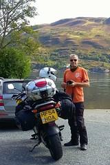 Waiting at the dockside.. (Mike-Lee) Tags: mvglenachullish ferry scotland isleofskye water mike jill bike cagivanavigator1000 roadtrip aug 2016 nov2016 motorbike motorcycle summer sunshine lastmanuallyoperatedturntableferry glenelg