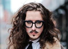 Joshua Kane #236 (drmaccon) Tags: joshuakane designer cool style moustache london eclectic fuji portrait streetportrait 56mmf12 primelens stranger xpro2 spitalfields glasses stylishman