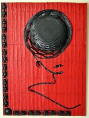 Tratto di donna (Daniela Bellofiore Artista) Tags: rosso nero donna tratto pittura scutura interni arte riciclo