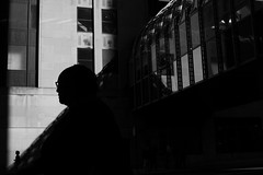 (Paul is Moody) Tags: street chicago mono urban city streetshot candid bnw shadows silhouettes light