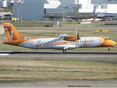 Air Caldonie. FIRST FLIGHT. NEW LIVERY. (Jacques PANAS) Tags: air caldonie atr 72600 72212a fwwer msn1380 fozli
