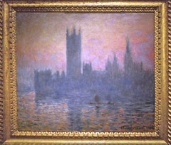 Claude Monet's 1903 Painting Of The Houses Of Parliament (Palace Of Westminster), London, UK. (sgterniebilko) Tags: claudemonet housesofparliament 1903 metropolitanpolice policeconstable artists 1970s 70s westminster london sw1 uk cannonrowpolicestation alphadelta