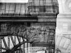 Expired Film Only (Meergraf) Tags: expired film analog vienna wien sterreich europe avaliable light natrliches licht silhouette grain maximilian meergraf dream or reality magic schatten dblinger steg brcke bridge doex double exposure mamiya super 645 kodak tmax mono einfrbig architektur infra structure