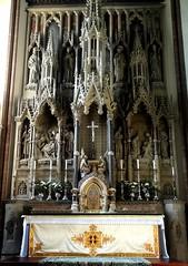 [46056] St Mary (RC), Warrington : High Altar & Reredos (Budby) Tags: warrington cheshire church victorian catholic romancatholic sculpture carving altar reredos