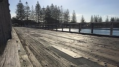 Simpsons Creek bridge, Brunswick Heads, New South Wales (David McKelvey) Tags: 2016 australia new south wales brunswick heads bridge wood road iphone6plus flickrunitedwinner simplysuperb