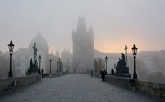 Karlův most (N6ra) Tags: karlův most praha károly híd bridge fog foggy prague city tower