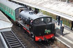 20160327 013 Eridge. NCB Liveried 0-6-0ST 72 (RS&H Works No. 7668 Built 1950) Arrived With The 13.20 ex Tunbridge Wells West (15038) Tags: railways trains br britishrail spavalleyrailway twerps eridge steam locomotive ncb 060st 72 rsh 7668