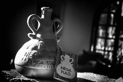 Cachaça (lenpereira) Tags: cachaça garrafa barro clay liqueur blackandwhite bw bottle noireblanc noiretblanc d3200