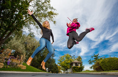 Uplifting (Flickr_Rick) Tags: outside autumn breanne jump jumping jumpology woman athletic strong kristy