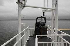 Ferry 'cross the Shannon (mightymightymatze) Tags: ireland irland 2016 summer sommer vacation vacations holiday holidays ferien urlaub countyclare ferry fhre shannon rivershannon boat schiff schwarzweis schwarzweiss blackwhite blackandwhite black white