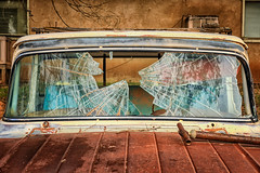 Shattered (KPortin) Tags: truck abandoned abandonedtruck window brokenwindows htt rusting derelict