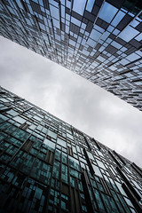 The Borg Cubes - London City Office Life (New Version) (Simon & His Camera) Tags: lines lookingup office building architecture sky cloud skyline window glass city geometric london outdoor pattern square cube simonandhiscamera urban vertical vertigo mirror reflection diagonal