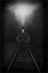 Last Stop (Color Blind 56) Tags: steam engine train dark tracks transportation lakeville d7100 cb1956 nikon mn adobephotoshopelements13 adobe photoshop elements 13 explore