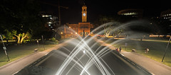 Civic spray (OzzRod) Tags: pentax k1 irix15mmf24blackstone night longexposure fountain civicpark newcastle