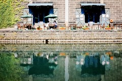 Otaru Canal (Gai) Tags:    otaru hokkaido japan   summer water   canal  architecture  warehouse  green