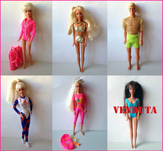 IN VENDITA/ ON SALE (pennyl) Tags: barbieinvendita barbieonsale barbie ken teresa gymnast beach glitter