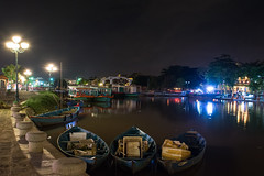 City of lights (Xnalanx) Tags: asia boat bridge environment hoian manmade night objects places plants river time trees vehicles vietnam water