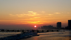 Sunset in Atlantic City (Yuri Dedulin) Tags: 2016 atlanticcity nj newjersey weekends yuridedulin sunset ocean beach jerseyshore shore southjersey jerseybeach