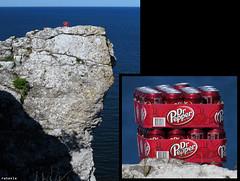 "20150703_01 ""These cases of Dr Pepper have been abandoned on a coastal cliff. Your argument is invalid."" | Hgklint, Gotland, Sweden (ratexla) Tags: ratexlasgotlandtrip2015 gotland 3jul2015 2015 canonpowershotsx50hs hgklint sweden sverige scandinavia scandinavian europe beautiful earth tellus photophotospicturepicturesimageimagesfotofotonbildbilder europaeuropean summer travel travelling traveling norden nordiccountries roadtrip journey vacation holiday semester resaresor landscape nature scenery scenic ontheroad sommar vegan veganfood vegetarian veg food cooking cuisine omnomnom good tasty whatveganseat whatdoveganseat veganmat vegansk foodie foodporn matporr veganska nom vegetariska soda drpepper lsk diptych lol lolz funny wat what wtf lolwat lolwtf bizarre yourargumentisinvalid gsgsgs"