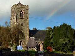 Y Santes Fair, Llanfair Caereinion (1868) (Rhisiart Hincks) Tags: llanfaircaereinion church eglwys eliza iliz eaglais galesherria wales anbhreatainbheag achuimrigh cymru powys maldwyn rainbow arcenciel boghafrois hortzadar gwaregarglav kanevedenn bwararch enfys