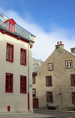 Colours of Quebec City: more red (Joann Egar) Tags: quebeccity villedequbec redsash fleuvesaintlaurent stlawrenceriver