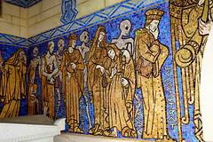 Chapelle funraire du snateur de Berny (frediquessy) Tags: chapelle tombe artdco guiscard oise mosaque dansedesmorts personnage frise berny ansart artfunraire