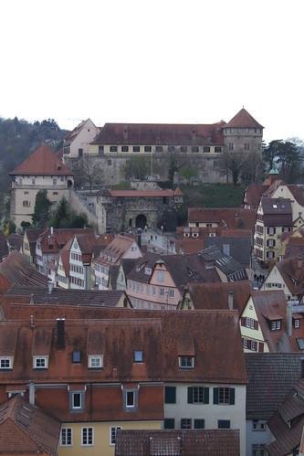 View towards Hohentübingen Castle, 08.04.2012.