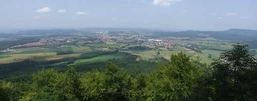 View from Hohenzollern Castle, 30.06.2012.