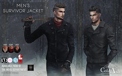 NEW! SURVIVOR JACKET @ TMD DECEMBER (coldashsl) Tags: sl menswear mens mesh clothing fashion male shop coldash cold ash tmd department project themeshproject slink physique signature gianni fittedmesh fitmesh jacket leather