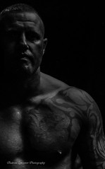 Boxer black and white (Andrew Lancaster photography) Tags: boxing portrait male muscle tattoo men man black white model