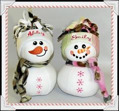 Snowmen Snowladies (Nice Threads) Tags: snowmen snowballs christmas personalized custom
