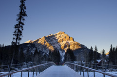 Banff_Cascade Mountain (Royal Bloke) Tags: banff bridge cascademountain alberta canada rockymountains canadianrockies banffnationalpark