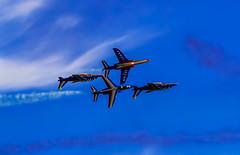Patrouille de France (Matiou83) Tags: jet alphajet plane airshow air sky blue aircraft flying aviation avion patrouilledefrance clouds canoneos70d canon