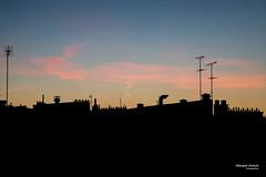 Question mark cloud (Franois Escriva) Tags: paris france landscape cityscape sky clouds antennas aerials roofs black blue pink purple yellow orange question mark silhouette colors