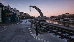 Steam Crane Bristol (brwestfc) Tags: bristol steam crane harbor dock load rail line
