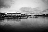 At the edge of the Sea (weirdoldhattie) Tags: bristol docks harbour harbourside marina water reflection cottages bw blackandwhite monochrome landscape sea river