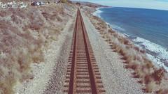 Train Tracks - Pacific Coast Highway, Ca (bustydunn) Tags: gopro waves ocean scenery coastline coast aesthetic tracks train highway1 pacificcoasthighway california drone
