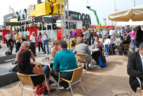 Outside deck at Manitowoc booth