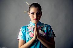 image-2 (stiqqo) Tags: colors girl japan studio fly sticks eyes image background wear nippon kana девушки девушка студия платье япония образ краски фон синее японская палочки макияж японка бирюза веер мейк