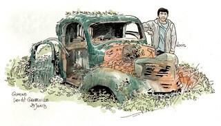Chevrolet après autopsie de Lefêvre & co ( En panne à Gumond )
