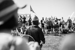 Battle Tag (Kristacher) Tags: canada festival photography iceland village handmade flags manitoba vikings viking reenactment gimli reenactor icelandic icelandicfestival vikingvillage islendingadagurinn gimlimanitoba kristacher kristacherphotography