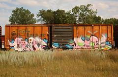 OWIE RYOE (The Braindead) Tags: art minnesota train bench photography graffiti painted tracks minneapolis rail explore beyond the