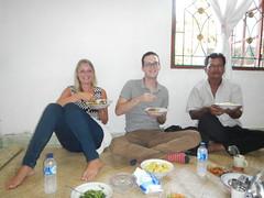 Eten bij lokale familie